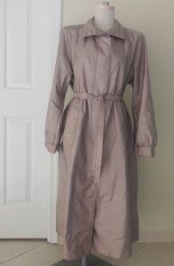 Downpour Beige Long Weterproof Rain Coat Size 16